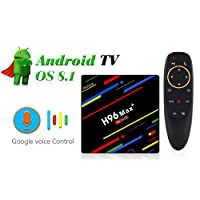 (With Voice Control) 4GB RAM 64GB ROM H96 MAX Plus Android 8.1 TV Box RK3328 Support 2.4G/5.0G WiFi LAN BT4.0 4K H.265 USB3.0