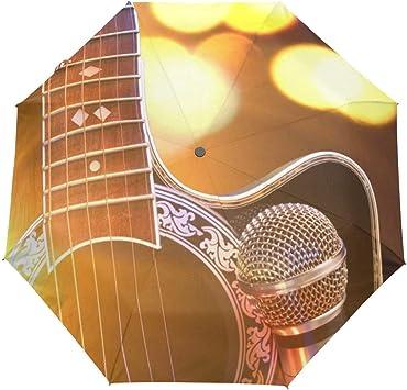 rodde Paraguas Música Guitarra Automático Abrir Cerrar Sol Lluvia ...
