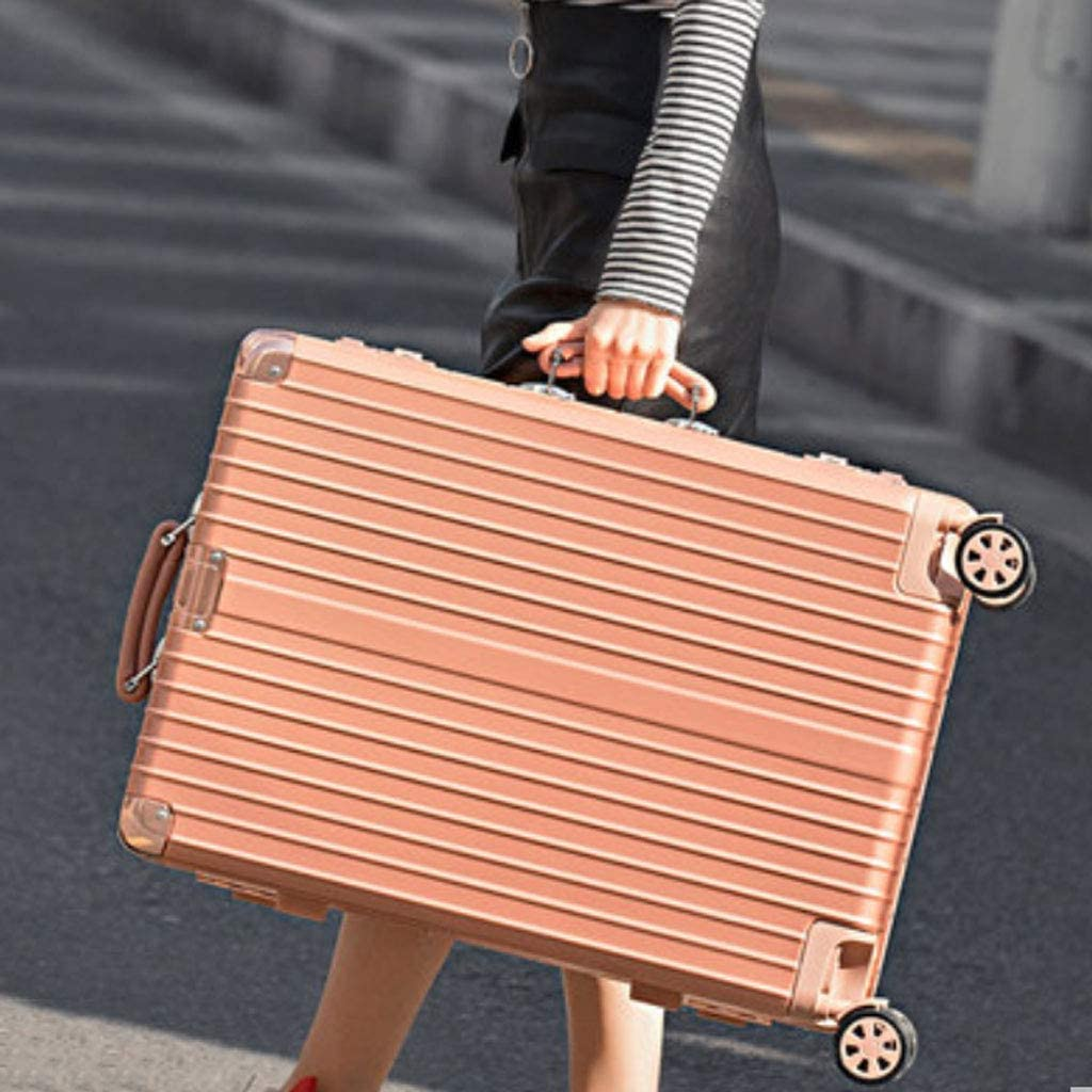 """Super Lightweight Business Suitcase HUANGDA ABS+PC Hard Shell Spinner Luggage Suitcase Travel Trolley Case 26"""",Silver Color : Ink Bamboo, Size : 20 inches"""