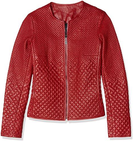 Rosso Mare Pelle Di Giorgio Giacca WHFn8nqP