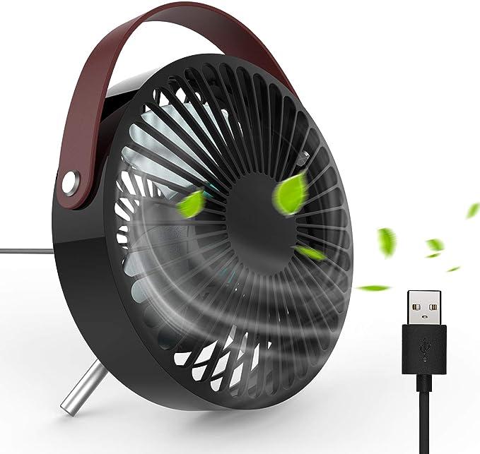 120 opinioni per DOUHE Ventilatore USB- Mini Ventilatore USB Moderno Bello Ventilatore da Tavolo,