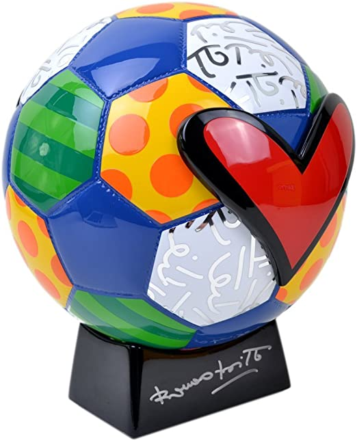 Guaraní de balón Romero Britto (pie negro/black base) de fútbol ...