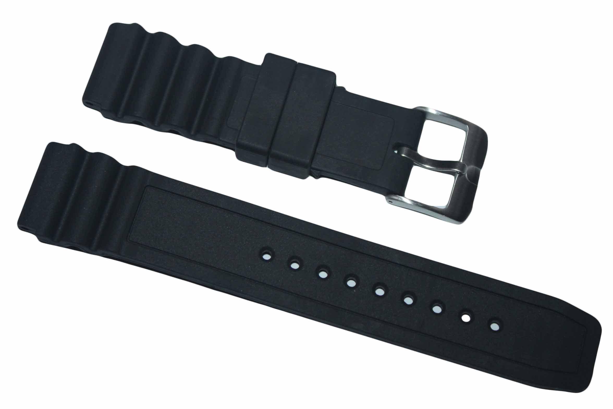 Italian Rubber Strap for Luminox 22mm 3000 3100 3200 3400 3600 8400 8800 Navy Seal Evo Colormark