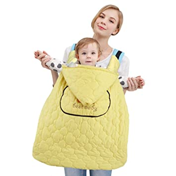 c73e647cf0b Amazon.com   OLizeeTM Windproof Waterproof Universal Baby Carrier Cover for  Cold Weather Warm Fleece Cloak Infant Hoodie Blanket