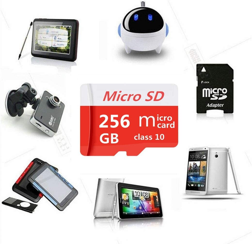256GB Micro SD Card 256GB//400GB//512GB//1024GB High Speed Class 10 Memory Micro SD SDXC Card with Adapter
