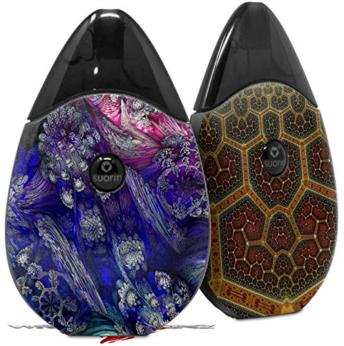 Skin Decal Wrap 2 Pack Compatible with Suorin Drop Flowery Vape NOT Included