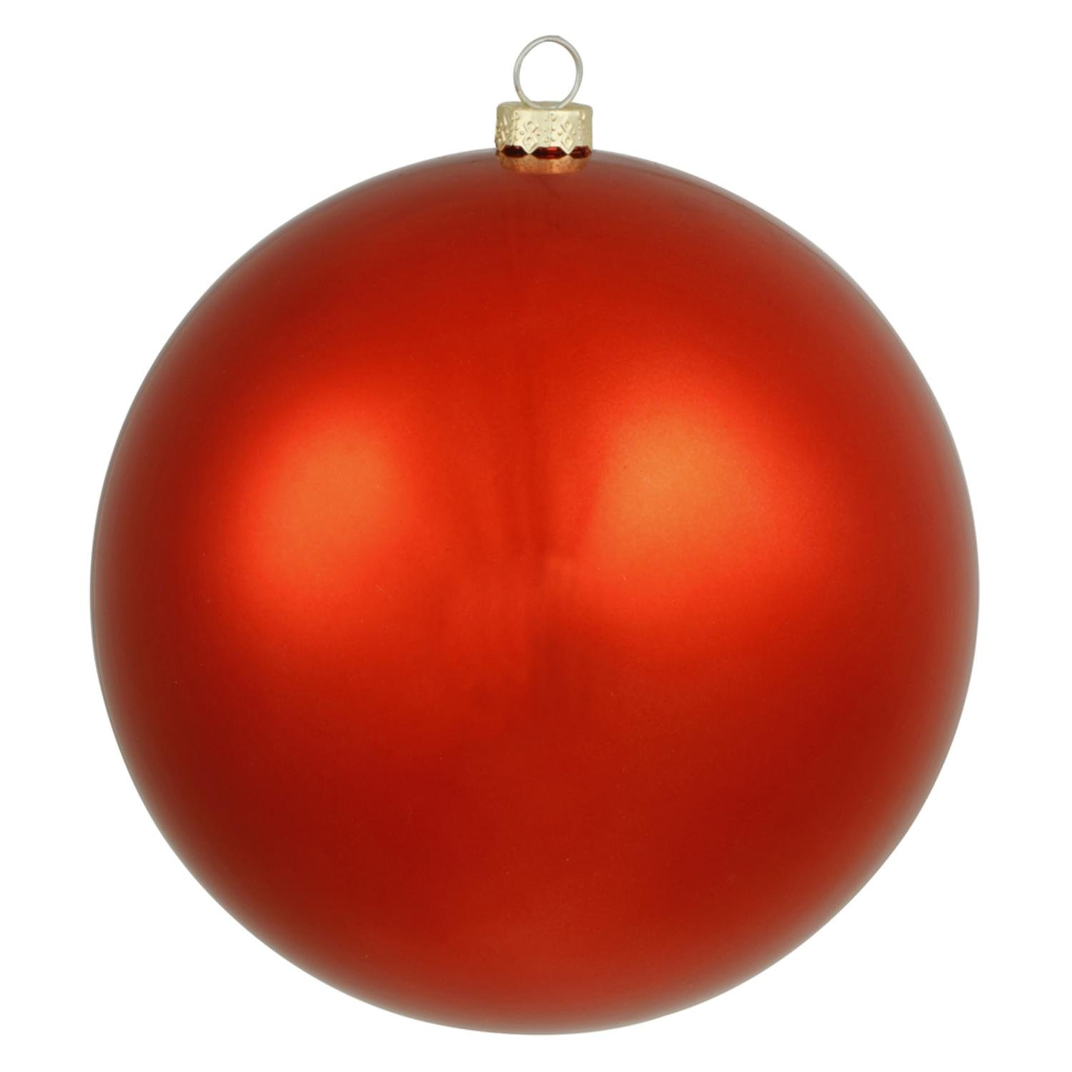 By Vickerman Shiny Red UV Resistant Commercial Drilled Shatterproof Christmas Ball Ornament 15.75''(400mm)