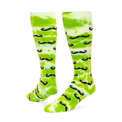 Red Lion Tie Dyed Mustache Athletic Socks