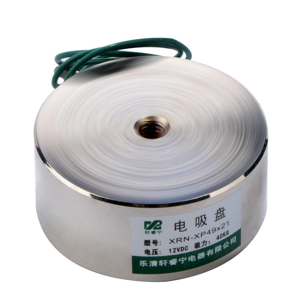 40Kg 88LB 12V 49mm Electric Lifting Magnet Electromagnet Solenoid