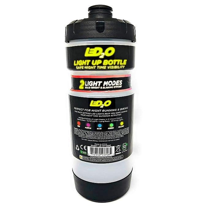 Amazon.com: led2o deportes botella de agua con 5 luces LED ...