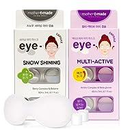MOTHER MADE Anti Aging & Dark Circle Removal Eye Mask SET (6 masks x 2 pack, 12 uses) - Snow Shining Eye Mask & Multi-Active Eye Patch SET, Remove Wrinkles Around Eye Area and Dark Circles
