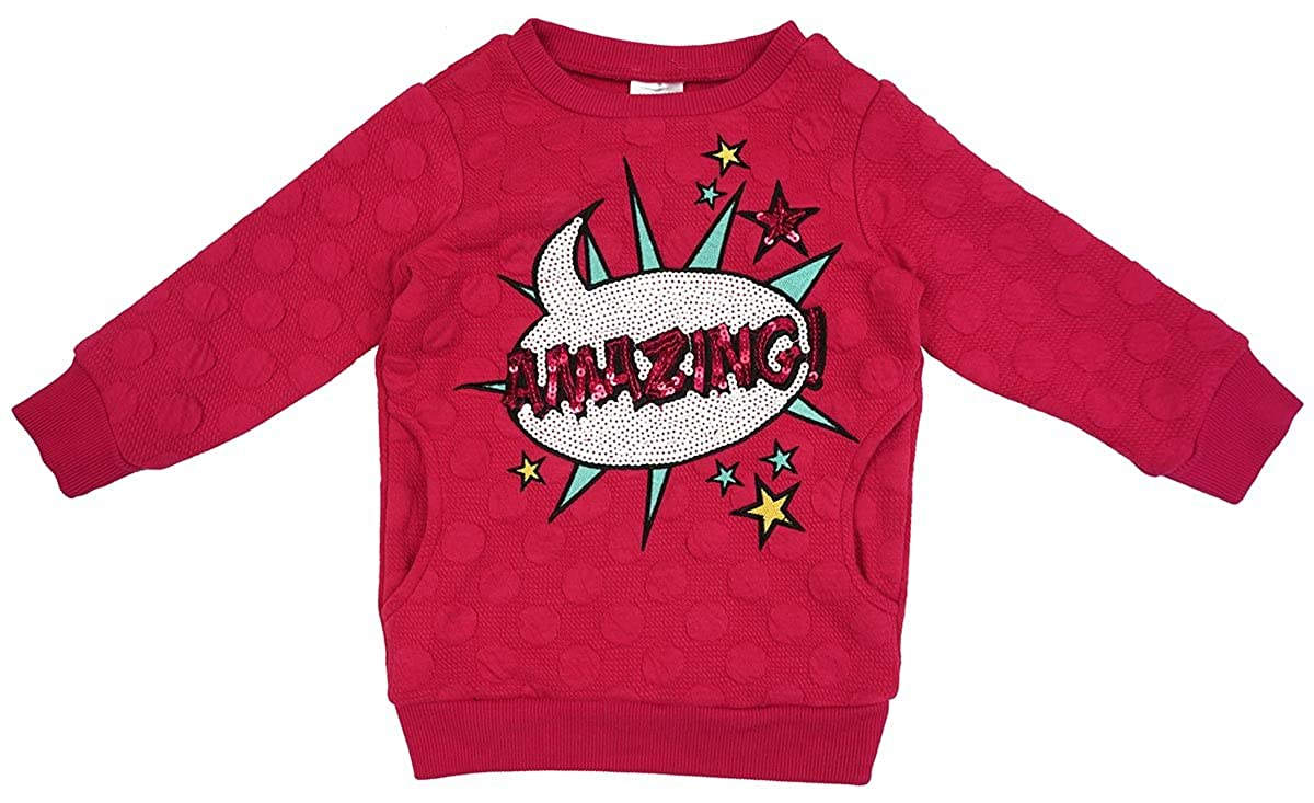 Girls Amazing Sequin Embossed Dots Hot Pink Fashion Jumper sizes from 2 to 6 Years