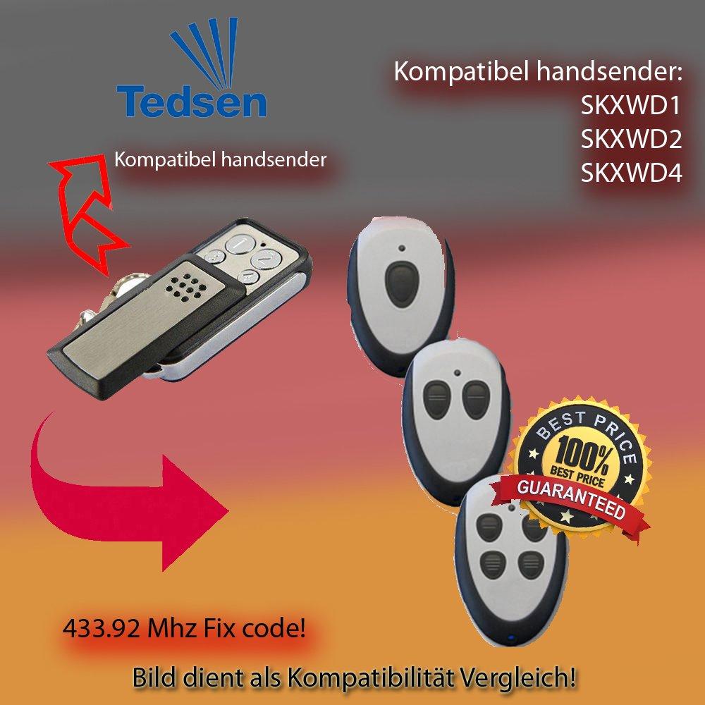 TEDSEN SKX1 TEDSEN SKX2 SKX3 SKX4 Kompatibel Handsender ersatz klone