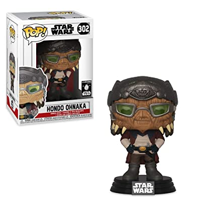 Funko Pop! Star Wars Galaxys Edge: Hondo Ohnaka Exclusive Vinyl Figure #302: Toys & Games