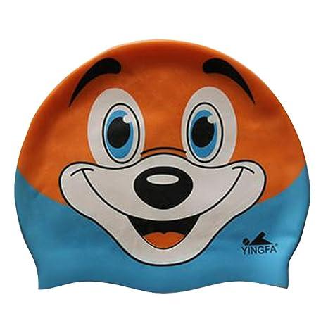 Moolecole bambino fresco cuffia da nuoto personalizzata simpatici animali  stampa nuoto cappelli resistenza all  acqua 4d97124c9412