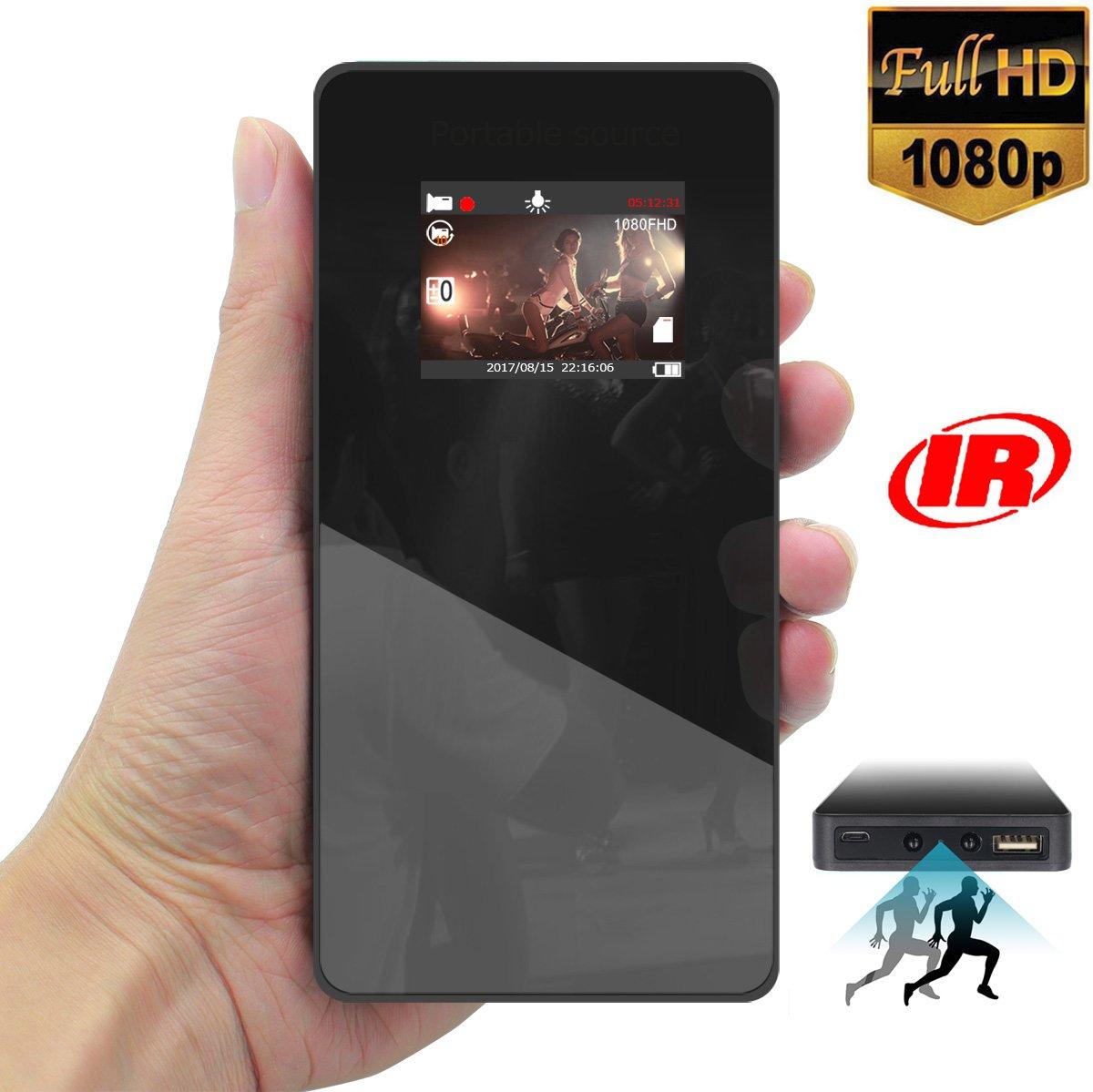 SeiTang 1080P HD高画質 モバイルバッテリー型カメラ スマホ型隠しカメラ スパイカメラ 動画撮影動体検知機能赤外線ライト暗視機能付き 2.0インチカラー液晶モニターを搭載 モバイル充電器機能 B01NCOX83Z  黑