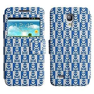 LEOCASE Dark Skull Funda Carcasa Cuero Tapa Case Para Samsung Galaxy S4 Mini I9190 No.1002467