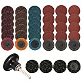 35Pcs Sanding Discs 2 inch Quick Change Discs,Surface Conditioning Discs, with 1/4 inch Tray Holder, for Surface Prep Strip Grind Polish Finish Burr Rust Paint Removal, by Wrightus