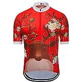 41bdc78b2 Weimostar Men s Cycling Jersey Short Sleeve Bicycle Bike Shirts Tops  Christmas Tree Santa Claus Breathable