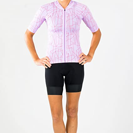 e84ab539f Shebeest 2018 Women s Sheena Structures Short Sleeve Cycling Jersey - 3239  (Structures-Lilac -