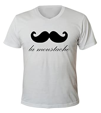 Chemise V T Mister Shirt Neck La Merchandise Moustache Men Homme 5RjSc34LqA