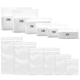 Amazon.com: Paquete de 600 bolsas de ziplock de 2 milímetros ...