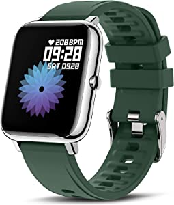 Canmixs Smart Watch for Android Phones iOS Compatible with iPhone Samsung Fitness Tracker with Heart Rate Blood Oxygen Sleep Monitor Full Touch IP67 Waterproof Sports Digital Watches for Women Men