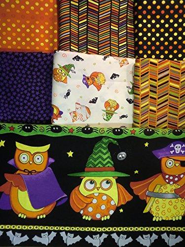 6 Yards + 1 panel Midnight Masquerade Halloween