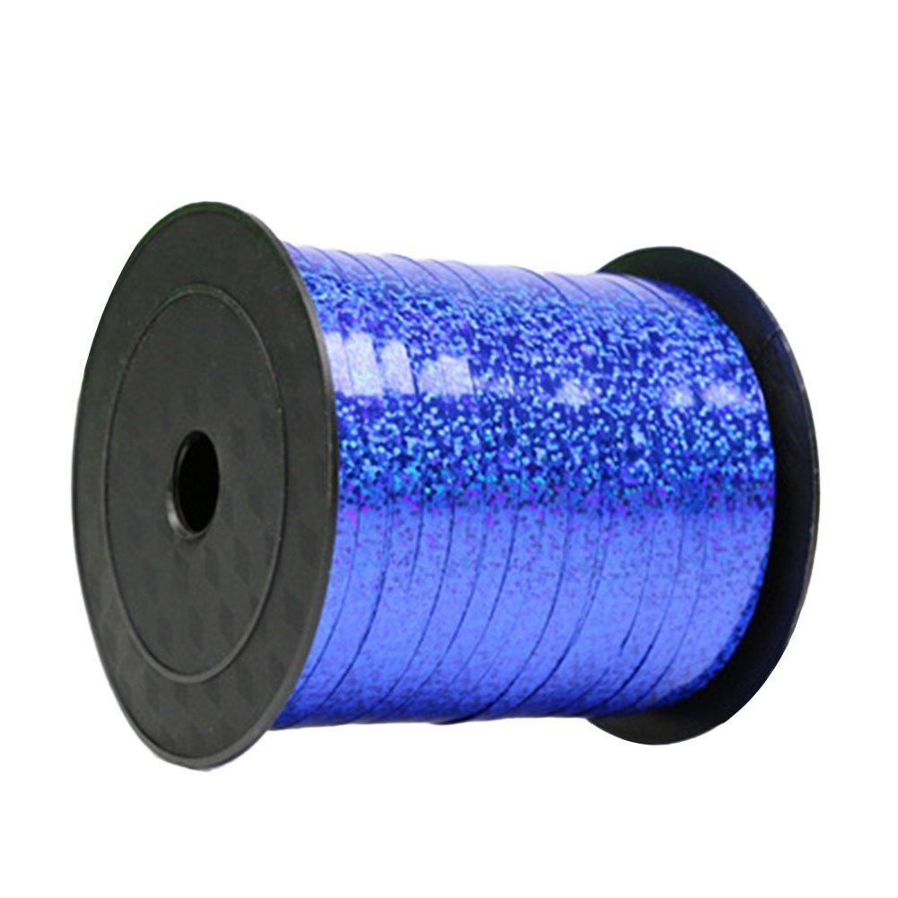 iTemer lucido nastro colorato per palloncini per feste, compleanni, banchetti, matrimoni decorazione di 200cm blu