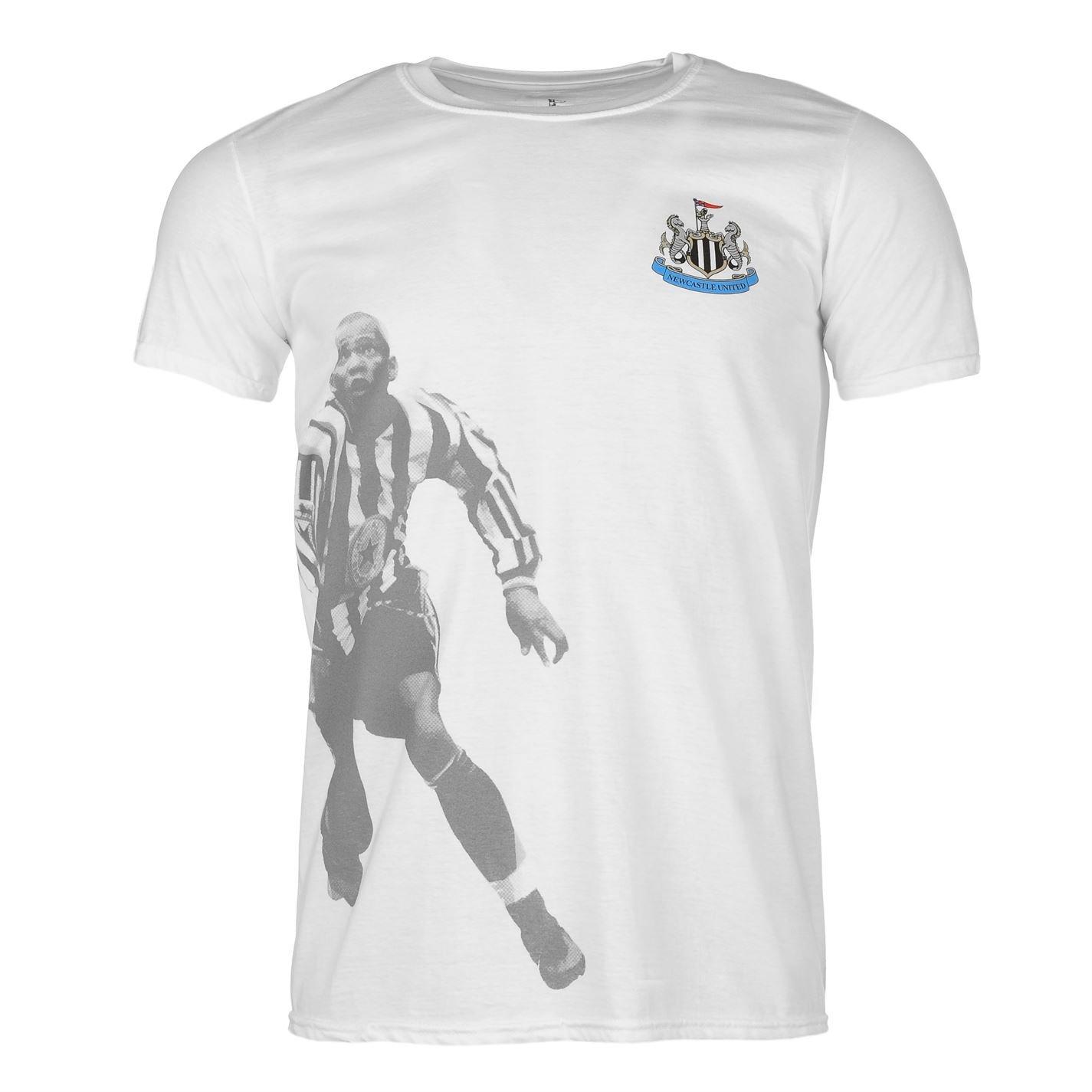 Team Hombre Newcastle United Retro Player Camiseta Hombre Top Ropa ...