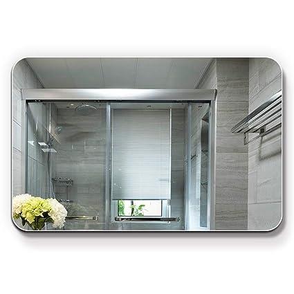 Specchio Bagno Cornice Argento.Specchio Bagno Quadrato Senza Cornice A Parete Impermeabile