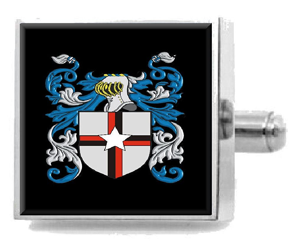 Select Gifts Rees Wales Heraldry Crest Sterling Silver Cufflinks Engraved Message Box