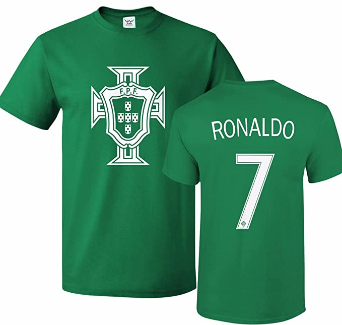 dc08a0c88 Image Unavailable. Image not available for. Color  Tcamp Portugal Soccer  Shirt Cristiano Ronaldo  7 Jersey Men T-shirt