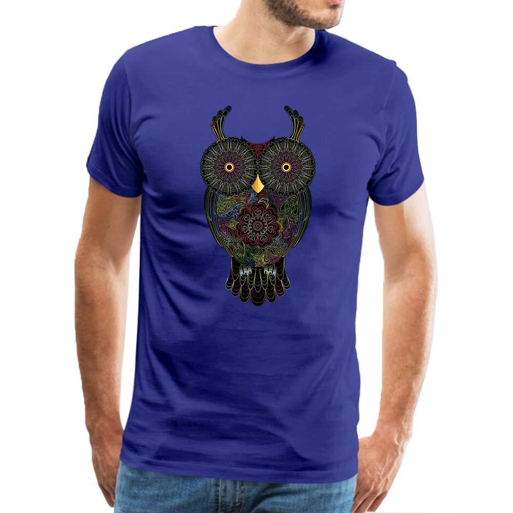 SGHSHSH Felpa con Cappuccio a Maniche Lunghe in Cotone da Uomo Owl Blu 3XL