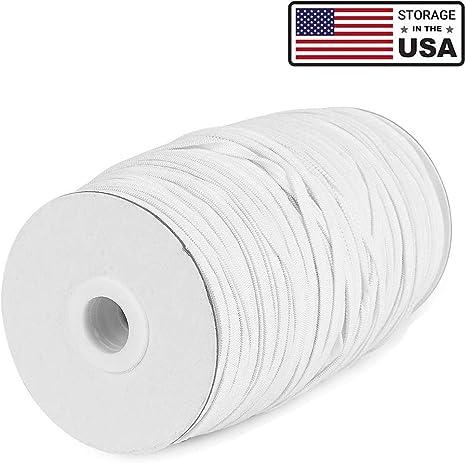 US 100 Yards Length 1//4 inch DIY Braided Flat Elastic Band Cord Knit Band Sewing