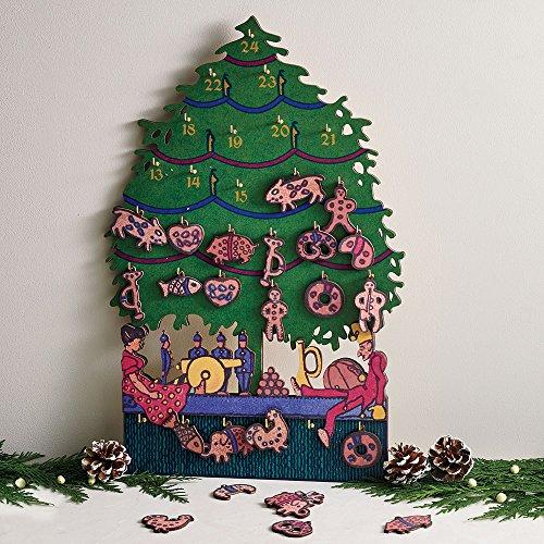Christmas Advent Calendar Wooden Advent Calendar Museum Creation 18'' x 12'' by MMA