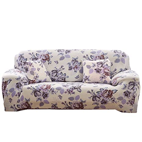 Desconocido Fundas para sofá con Estampado de Flores, 1 2 3 4 plazas, poliéster, Elastano, elásticas, Fundas Protectoras para sofá, Annes Garden, 4 ...