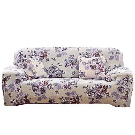 Desconocido Fundas para sofá con Estampado de Flores, 1 2 3 4 plazas, poliéster, Elastano, elásticas, Fundas Protectoras para sofá, Annes Garden, 3 ...