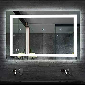 LED Miroir Sur Eclairage Salle De Bain, Miroir Avec Lumiere, Niveau Étanche  I P 67