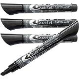Quartet Dry Erase Markers, EnduraGlide, Chisel Tip, BOLD COLOR, Black, 12 Pack (5001-2M)