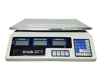 bilancia elettronica digitale professionale min 5 gr max 40 kg ... - Bilancia Da Cucina Professionale