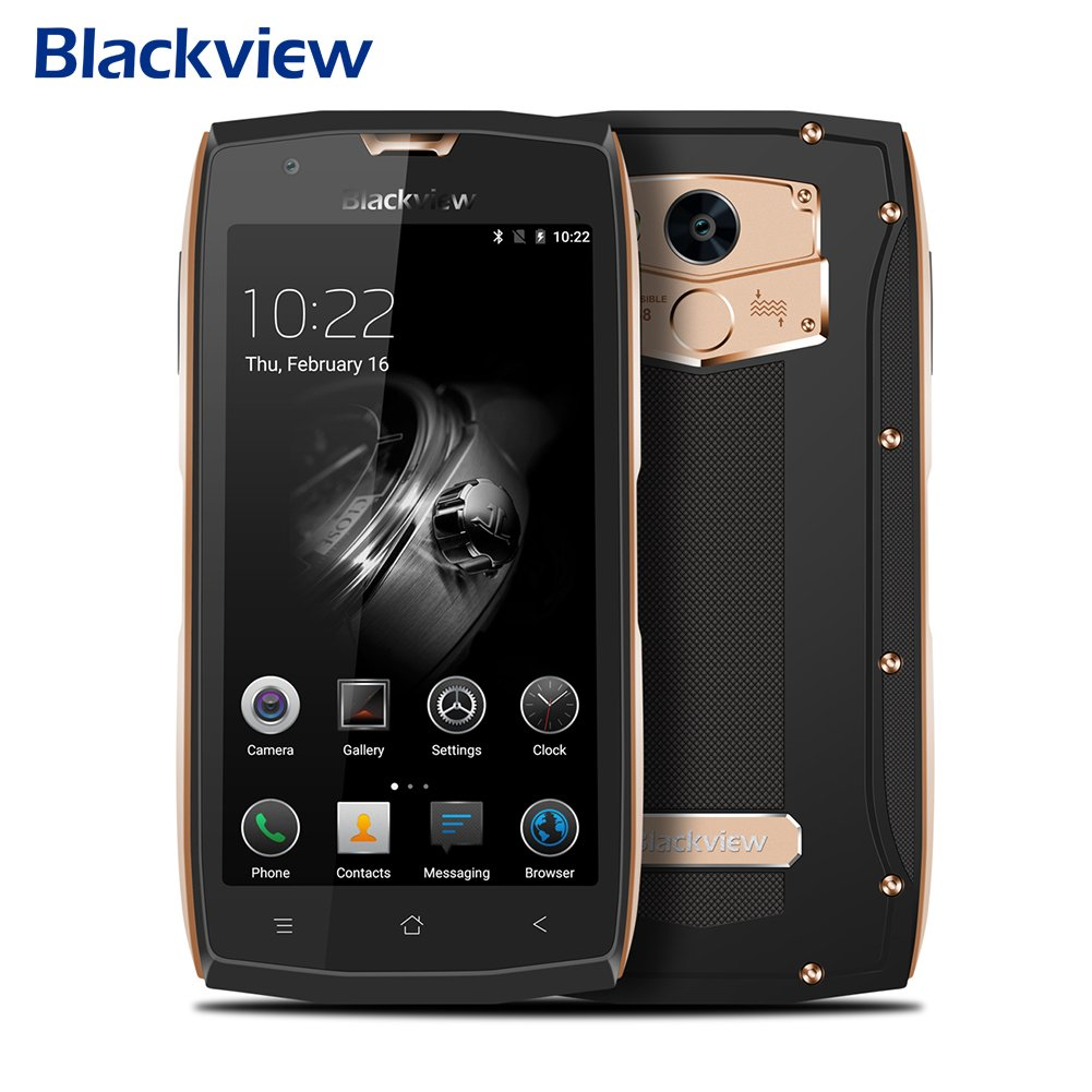 Dual SIM Smartphone Unlocked Android, Blackview BV7000 Pro Waterproof Smartphone MT6750T Octa Core 5.0-inch Phone 4GB RAM 64GB ROM 13.0MP Android 6.0 Phone