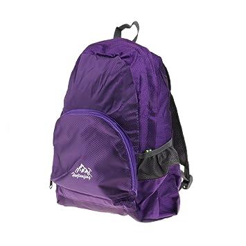 9b98fd92280a Men Women Foldable Lightweight Backpack Traveling Camping Rucksack Hiking  Daypack 20L - Purple