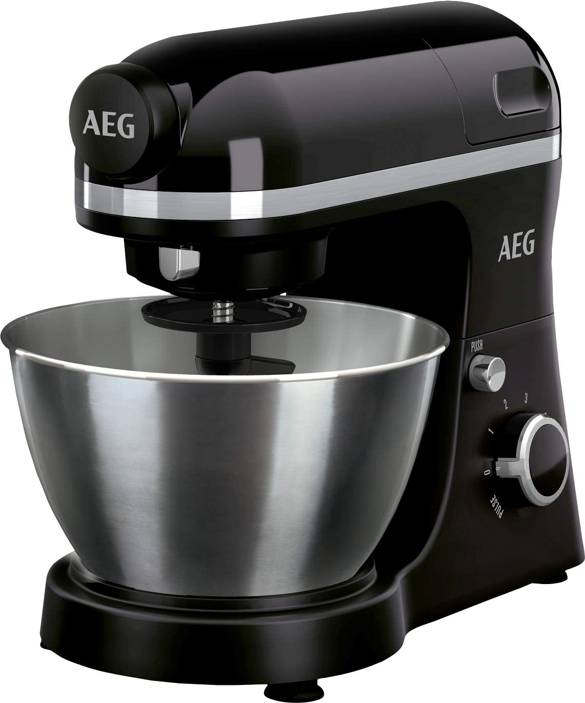 AEG 950075567 KM3300 Robot Cocina, 800 W, 6 velocidades, Aluminio, Negro: Amazon.es: Hogar
