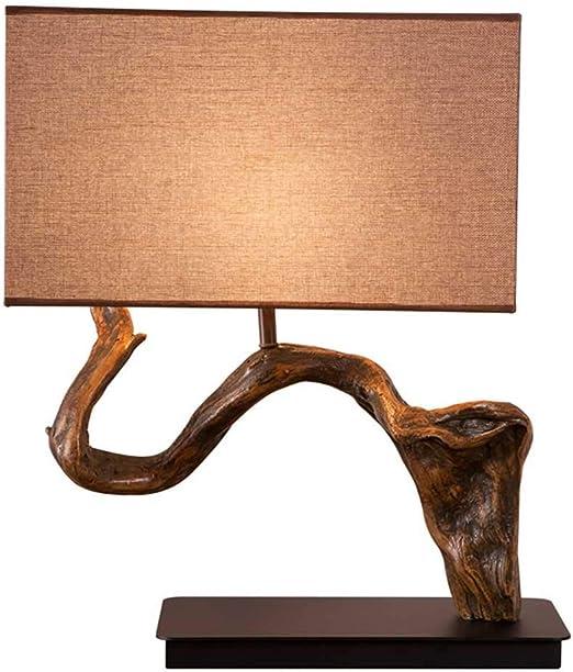Raíz de árbol de imitación vintage lámparas de mesa, pantalla de ...
