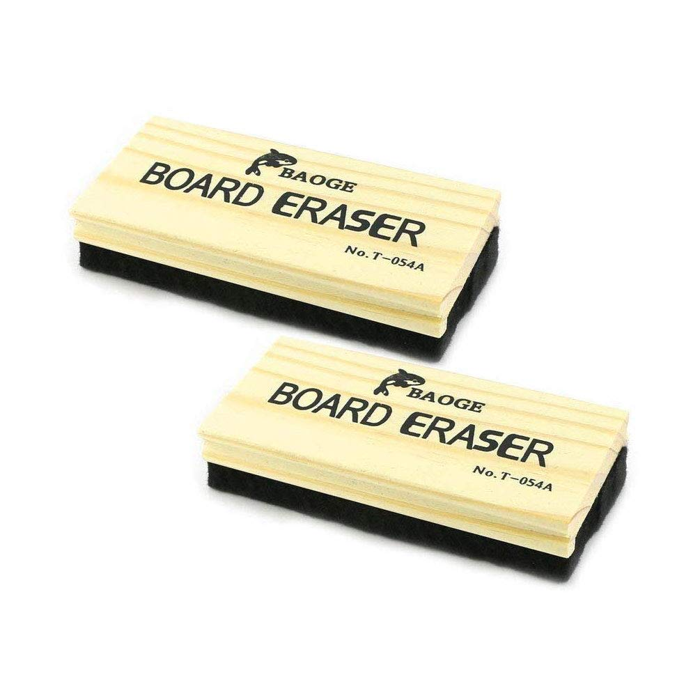 2 Pack Chalkboard Eraser Wooden Felt Eraser Cleaner Duster Blackboard Whiteboard Chalk Eraser Office School Supply