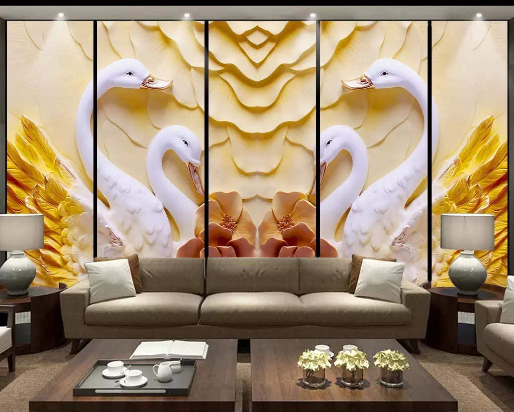 beautiful-swan-mural-decor