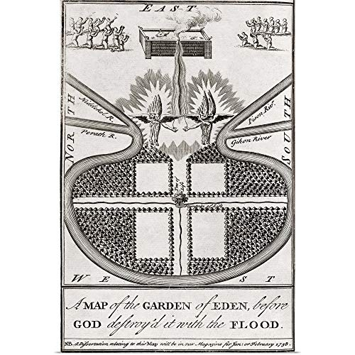 GREATBIGCANVAS Poster Print Entitled Map of The Garden of Eden by 40