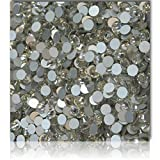 "100% Custom Made (7.4mm) 720 Wholesale Pieces of Small Size ""Glue-On"" Flatback Embellishments for Decorating, Made of Acrylic Resin w/ Shiny Iridescent Event Rhinestone Crystal Style {Clear White"