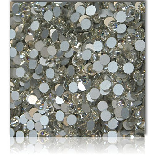 "100% Custom Made (7.4mm) 720 Wholesale Pieces of Small Size ""Glue-On"" Flatback Embellishments for Decorating, Made of Acrylic Resin w/ Shiny Iridescent Event Rhinestone Crystal Style {Clear White by mySimple Products"